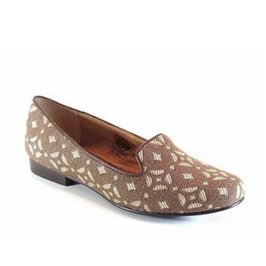 SH191 Fossil Calabash Pecan Brown Canvas Loafers